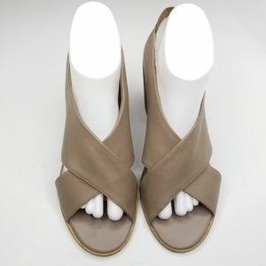Kelsi Dagger Shoes - Kelsi Dagger Block Heel Open Toe Leather Shoes